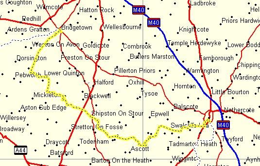 Stratford England Map.Day 5 Banbury To Stratford Upon Avon